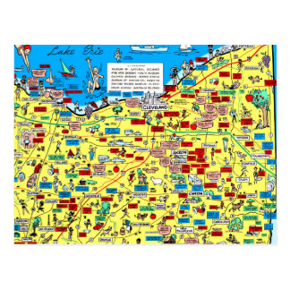 Kartenpostkarte Retro 1966 Clevelands, Ohio Postkarte