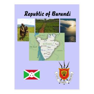 Kartenpostkarte von Burundi Postkarte