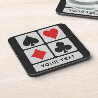 Kartenspieler-Gewohnheits-Untersetzer Getränke Untersetzer