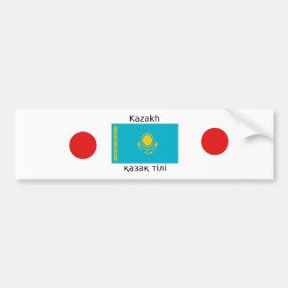 Kasachische Sprache und Kasachstan-Flaggen-Entwurf Autoaufkleber