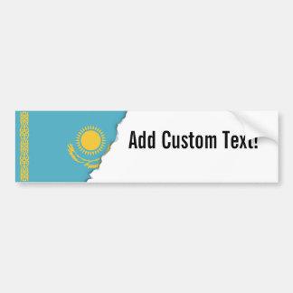 Kasachstan-Flagge Autoaufkleber