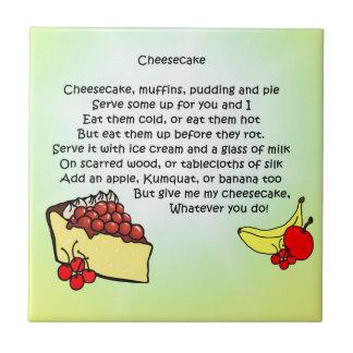 Käsekuchen-Gedicht Keramikfliese