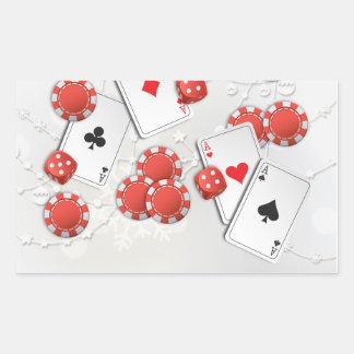 Kasino-Feiertag Rechtecksticker