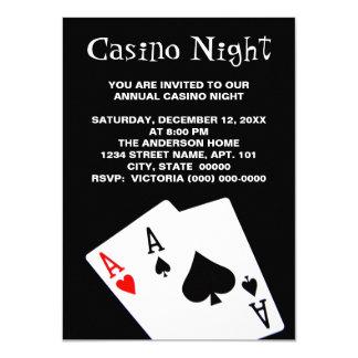 Kasino-Nachteinladungen 11,4 X 15,9 Cm Einladungskarte