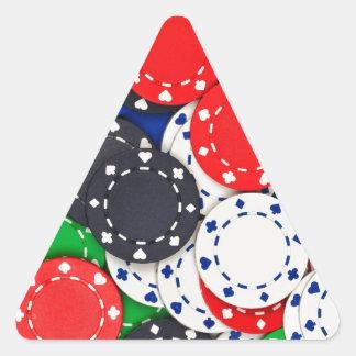 Kasino-Pokerchips Dreieckiger Aufkleber