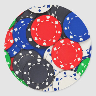 Kasino-Pokerchips Runder Sticker