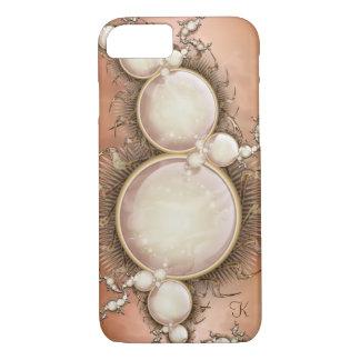 Kaskade der Perlen auf Mokka iPhone 8/7 Hülle
