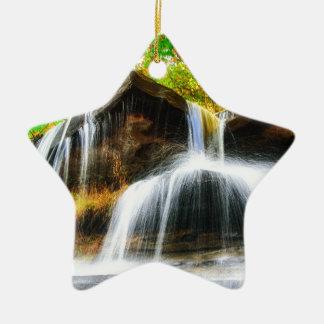 Kaskaden-Fälle Keramik Stern-Ornament