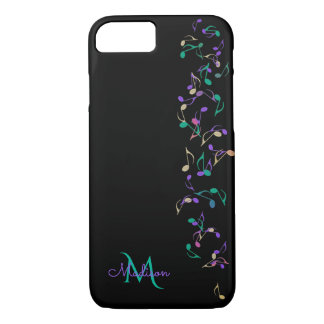 KaskadierenMusiknoten-Monogramm iPhone 7 Fall iPhone 7 Hülle