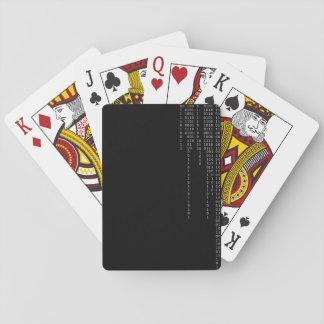 Kaskadierenzweiheit Spielkarten