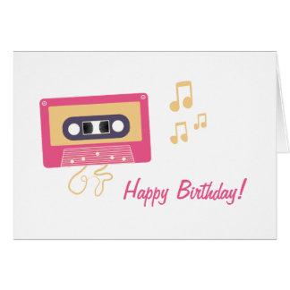 Kassetten-Geburtstag Karte