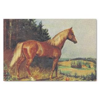 Kastanien-Pferd Seidenpapier