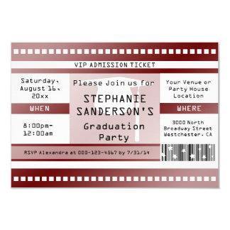 Kastanienbraune Abschluss-oder 8,9 X 12,7 Cm Einladungskarte