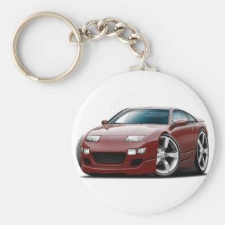 Kastanienbraunes Auto Nissans 300ZX Schlüsselanhänger