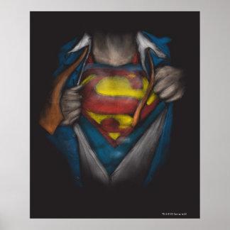Kasten des Supermann-| decken Skizze Colorized auf Poster