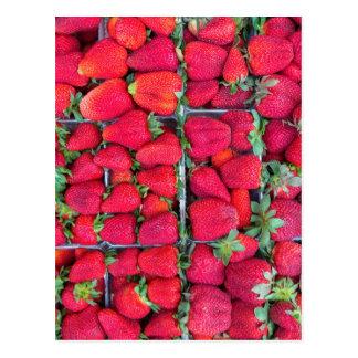 Kästen gefüllt mit roten Erdbeeren Postkarte