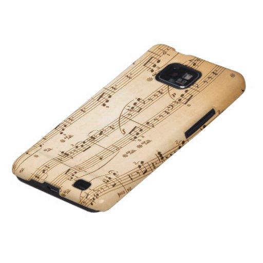 Kasten musikalische Anmerkungs-Samsung-Galaxie-S Galaxy SII Hüllen