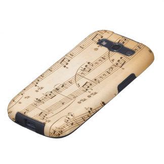 Kasten musikalische Anmerkungs-Samsung-Galaxie-S Hülle Fürs Galaxy SIII