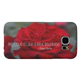 Kasten Samsungs-Galaxie-S6 meine Liebe-Rote Rose