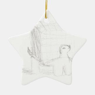 Kastenschildkrötewürfel, der Eliana zeichnet Keramik Stern-Ornament