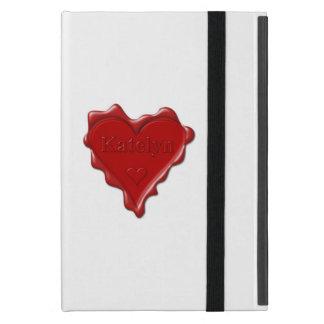 Katelyn. Rotes Herzwachs-Siegel mit NamensKatelyn iPad Mini Etui