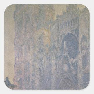 Kathedrale Claude Monets | Rouen, Harmonie im Weiß Quadratischer Aufkleber