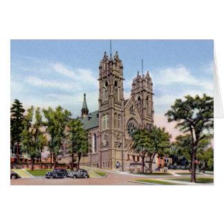 Kathedrale der Madeleines Salt Lake City Utah Grußkarte