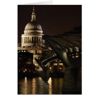 Kathedrale St. Pauls und das Jahrtausend nachts Karte