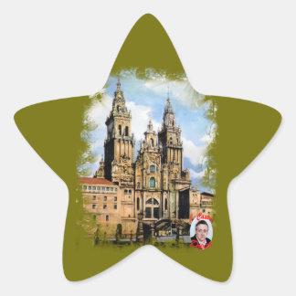 Kathedrale von Santiago Compostela Von ,(Zu Stern-Aufkleber