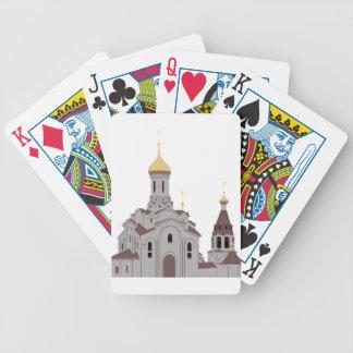 Kathedralen-Illustration Bicycle Spielkarten