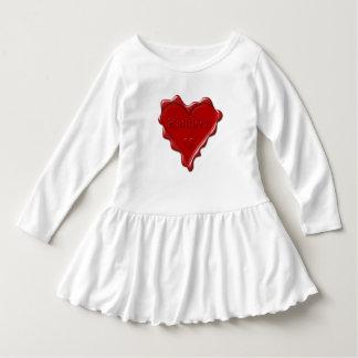 Kathleen. Rotes Herzwachs-Siegel mit Kleid