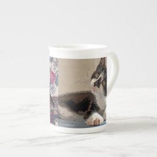 Kätzchen-Tasse Prozellantasse