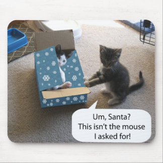 Kätzchen-Weihnachtsüberraschung Mousepad