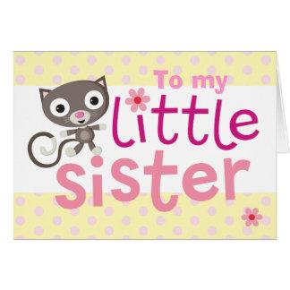 Katze der kleinen Schwester Karte