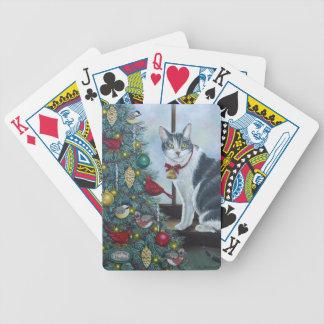 Katze des Weihnachten0417 Pokerkarten