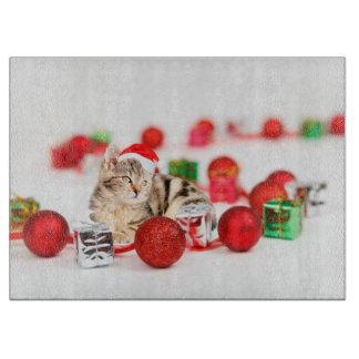 Katze, die rote schneidebrett