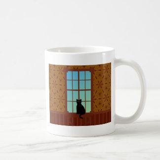 Katze im Fenster Tasse