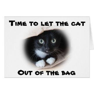 Katze in einer Tasche Karte