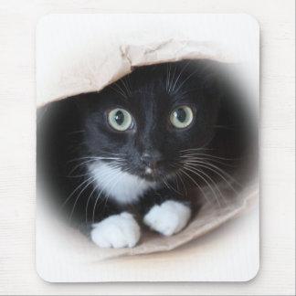 Katze in einer Tasche Mauspad