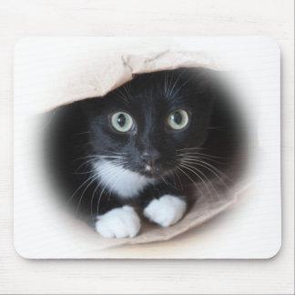 Katze in einer Tasche Mousepad