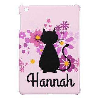 Katze in rosa Blumen kundengerechtem IPad Minifall iPad Mini Hülle