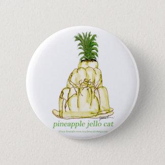 Katze jello die Ananas der tony fernandess Runder Button 5,7 Cm