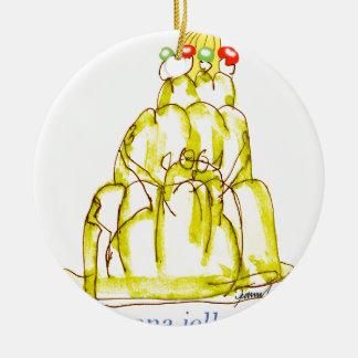 Katze jello die Banane der tony fernandess Keramik Ornament