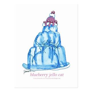 Katze jello die Blaubeere der tony fernandess Postkarten