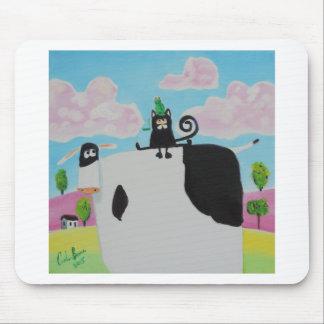 Katze und Frosch auf einer Kuh, die Kunst Gordons Mauspads