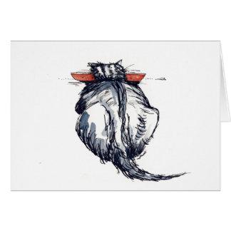 Katze und Mäuse Mitteilungskarte