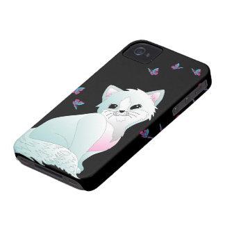 Katze und Schmetterlinge iPhone 4 Case-Mate Hüllen