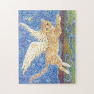 Katze Wings Puzzlespiel des sternenklare Puzzle
