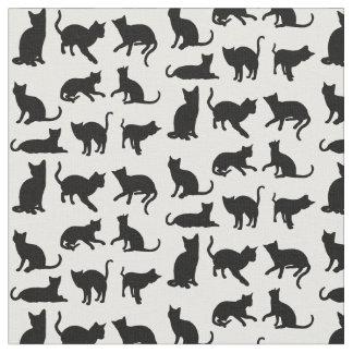 Katzen auf irgendeinem Hintergrund Stoff