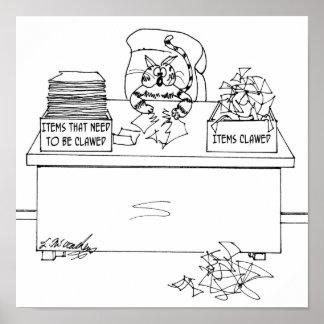 Katzen-Cartoon 6893 Poster